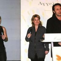 Ο Ρένος Χαραλαμπίδης στην εκδήλωση για την παρουσίαση Ελαιοπουλάκι στο κτήμα Νασιουτζικ