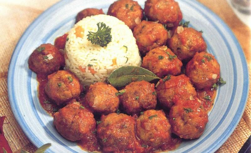 Chicken meatballs in a tomato sauce