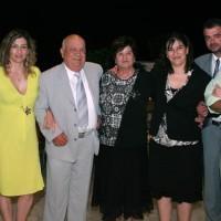Μέλη της Οικογένειας Αγγελάκη στην παρουσίαση στο Μουσείο Μπενάκη