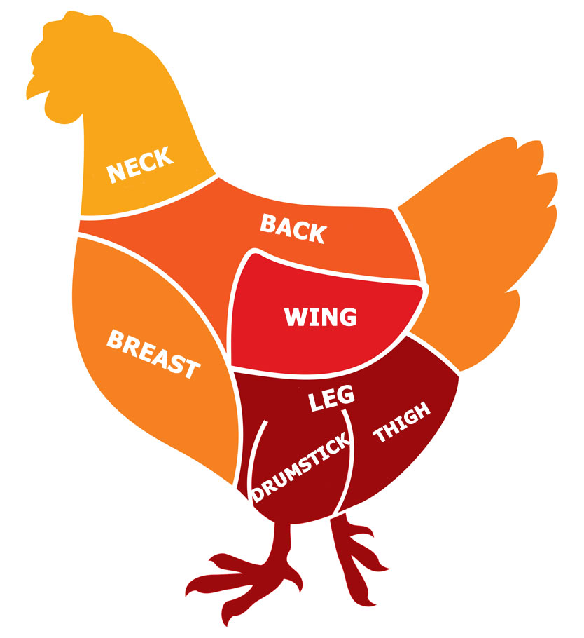 Learn the parts of a Chicken - Aggelakis Poultry Products