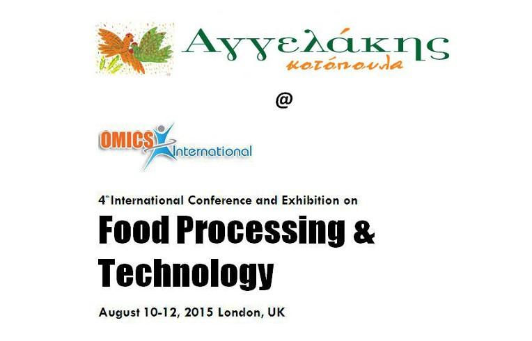 Η Αγγελάκης Α.Ε. προσκεκλημένος ομιλητής στο 4ο Παγκόσμιο Συνέδριο Επεξεργασίας & Τεχνολογίας Τροφίμων