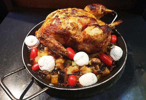 Κοτόπουλο Φούρνου με Λαχανικά και Κατίκι