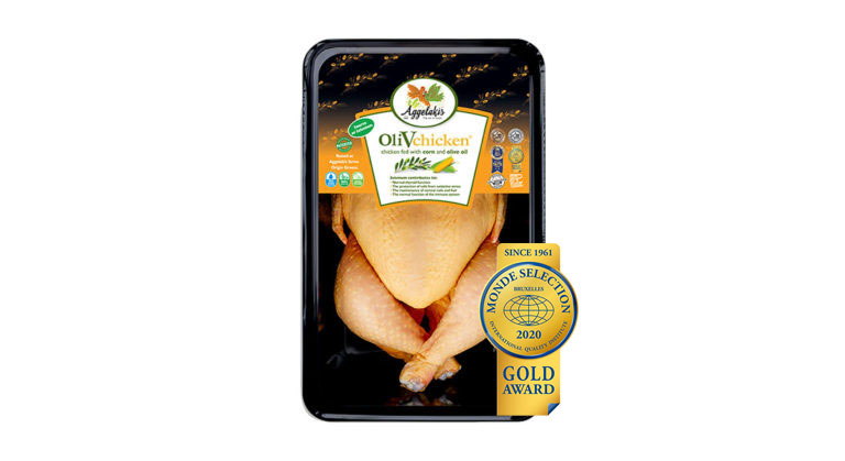 Gold International Distinction for the Aggelakis SA flagship product OliVchicken®
