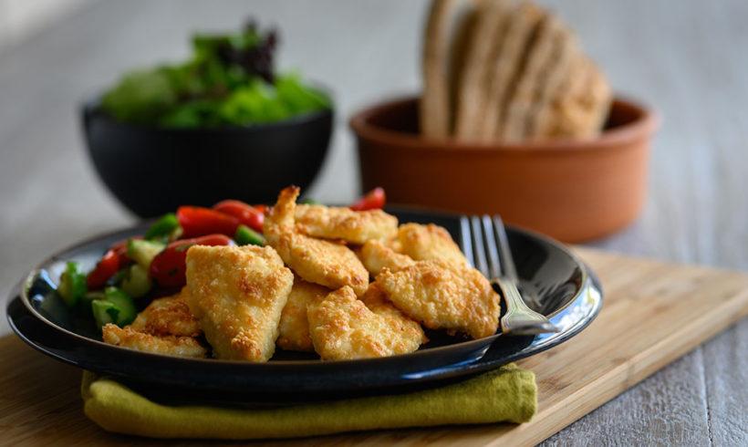 Φιλετάκια στήθος κοτόπουλου Ελαιοπουλάκι παναρισμένα με παρμεζάνα